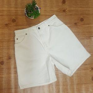 Levi's Vintage High Waist Demin White Shorts 951
